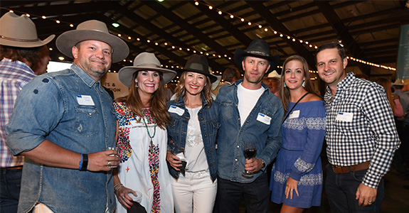 People at the Crested Butte Open Fundraising Gala