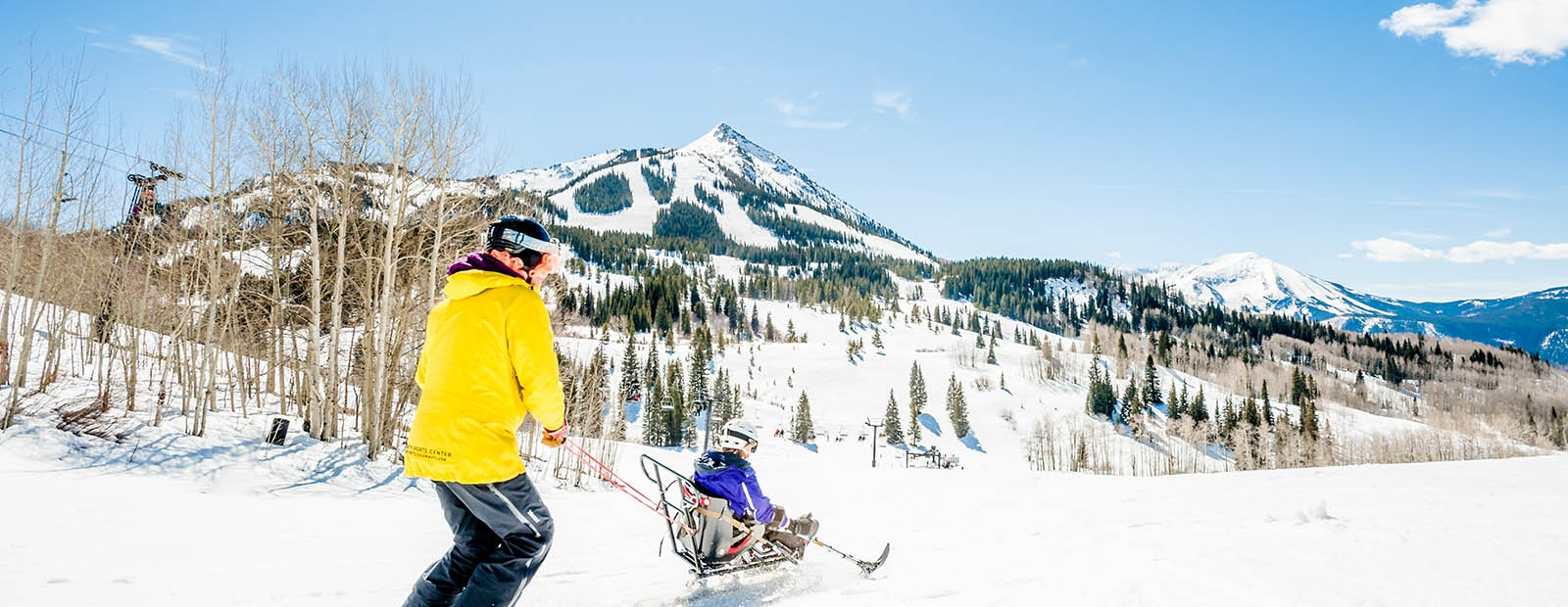 Adaptive skier at Crested Butte Mountain Resort