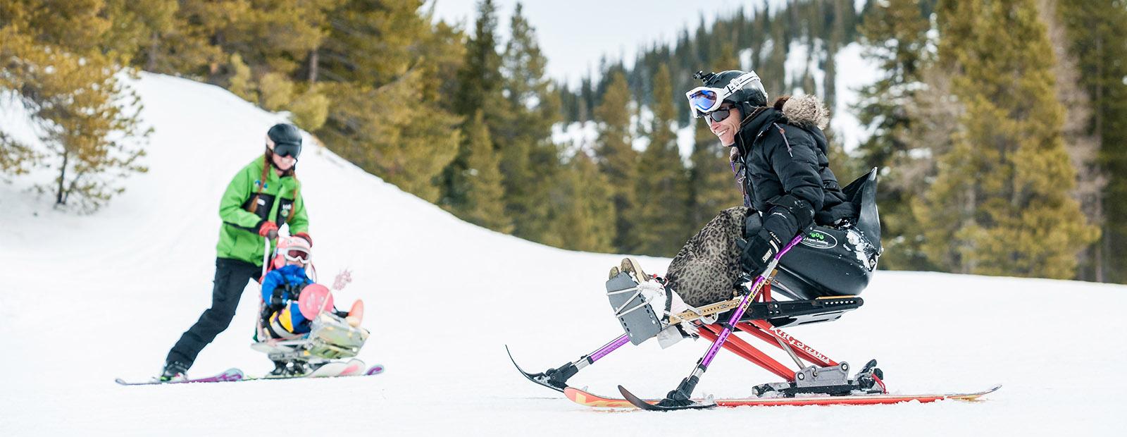sit skiers