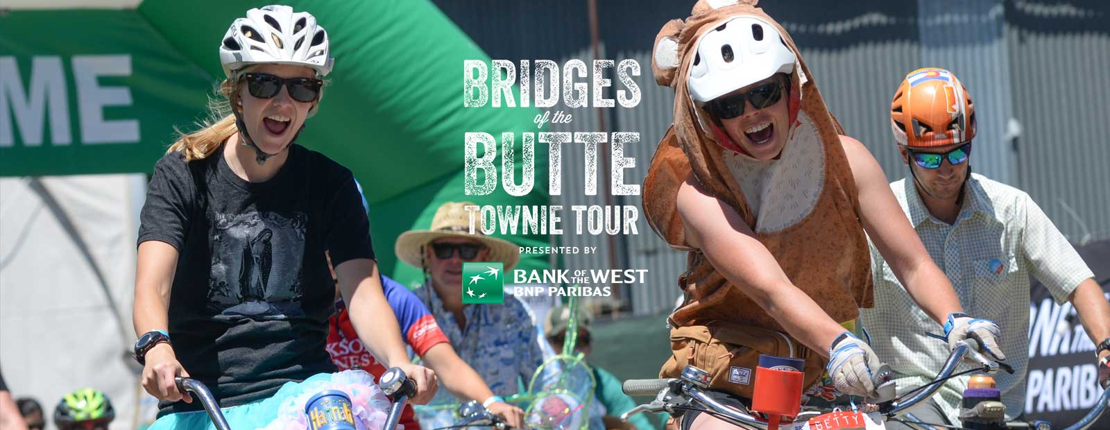 Bridges of the Butte participants on bikes in costume
